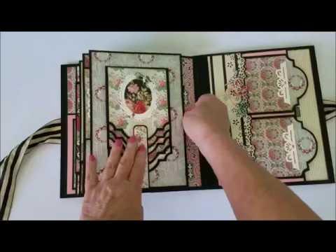 Rose Stripe 9 x 7 Mini Album