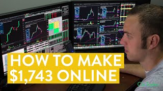 Live Day Trading | How To Make $1,743 Online Stock Market Power!