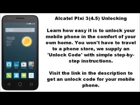 Unlock Alcatel Pixi 3 (4 5) (4027A 4027N 4027X) - SIM ME Lock