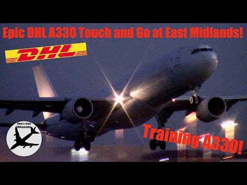 Rare | DHL/ASL A330 Passenger to Freighter Conversion Touch & Go at East Midlands Airport | 13/12/17