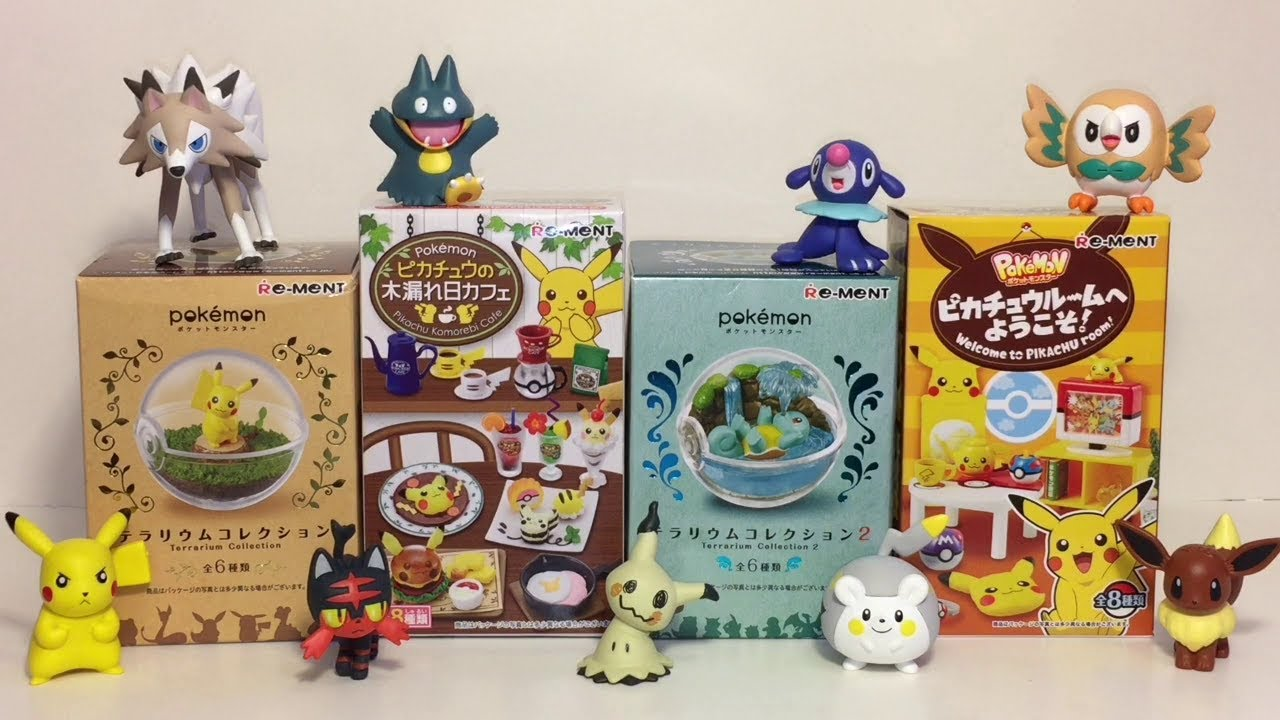 RE-MENT Pokemon Forest woods Miniture Pikachu 8 pcs Complete BOX