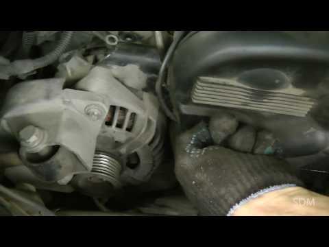 Opel Vectra B Z18XE ремонт: генератор часть 1 - снятие