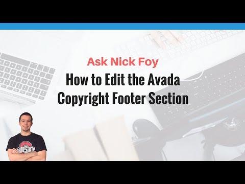 WordPress avada copyright