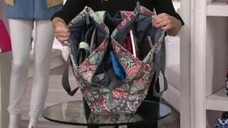 Vera Bradley Signature Print Triple Compartment Travel Bag on QVC