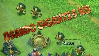 Probando los gigantes nivel 8 | Visitando al clan AzteKz | Clash of clans