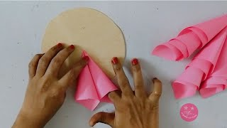diypapercraft #paperflower Hello friends in this video we will see how to use old invitation card to make a lovely wall hanging.