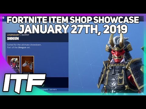 Fortnite Item Shop SHOGUN SET IS BACK! [January 27th, 2019] (Fortnite Battle Royale)
