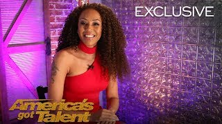 Mel B Reacts To Hitting Golden Buzzer For Amanda Mena - America's Got Talent 2018