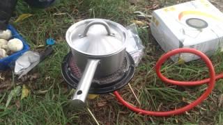 Bigh-3 Ballu готовим пищу на природе без костра и мусора ик-обогреватель