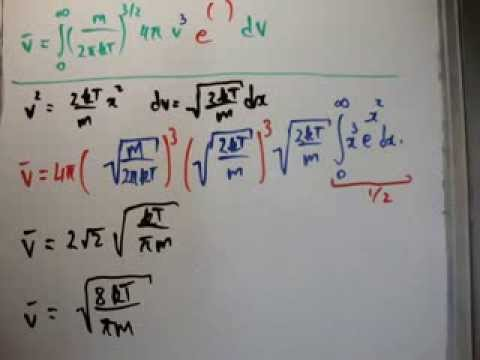 Quantum Statistics 32 b : Average Speed - Maxwell Boltzmann Distribution 2/3