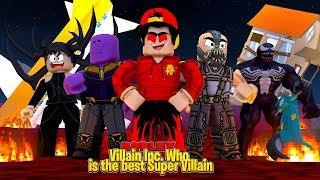 ROBLOX - VILLAIN INC. WHO IS YOUR FAVORITE SUPER VILLAIN?!!
