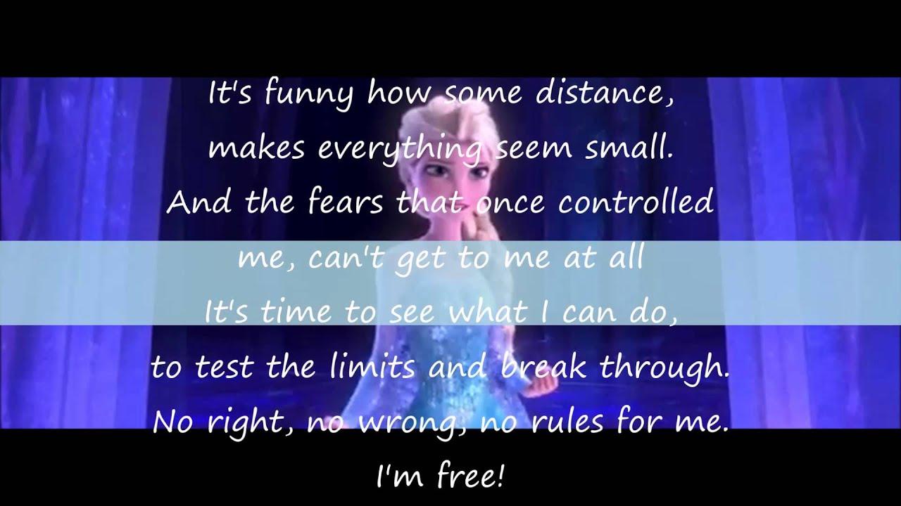 idina menzel frozen let it go lyrics - photo #38