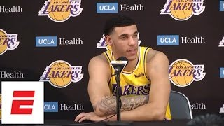 [FULL] Lonzo Ball on jump shot ('It's not really changed a lot'), LeBron, Rondo, more | ESPN