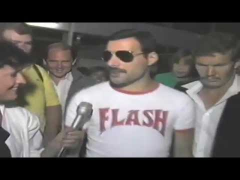Freddie Mercury and Queen arriving at Jan Smuts South Africa (Sun City)