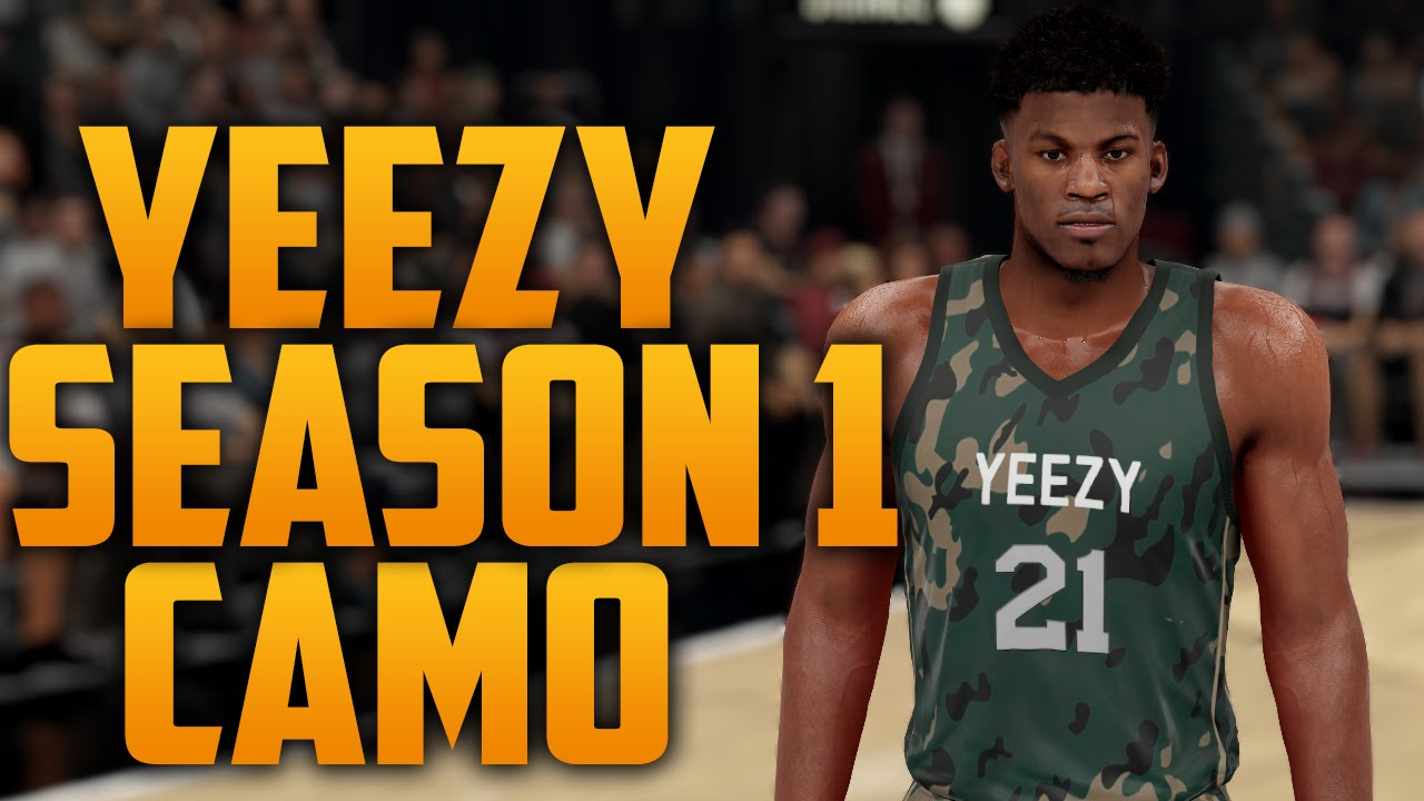 00c6f42b065 NBA 2K16 Yeezy Season 1 Camo Jersey Tutorial - YouTube