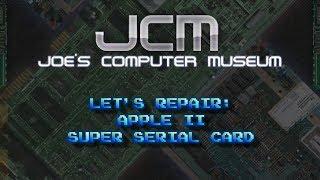 DEAD SHORT - Repairing an Apple II Super Serial Card