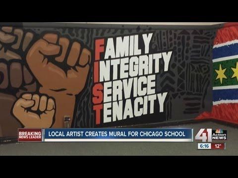 Local Artist Creates Mural For Chicago School