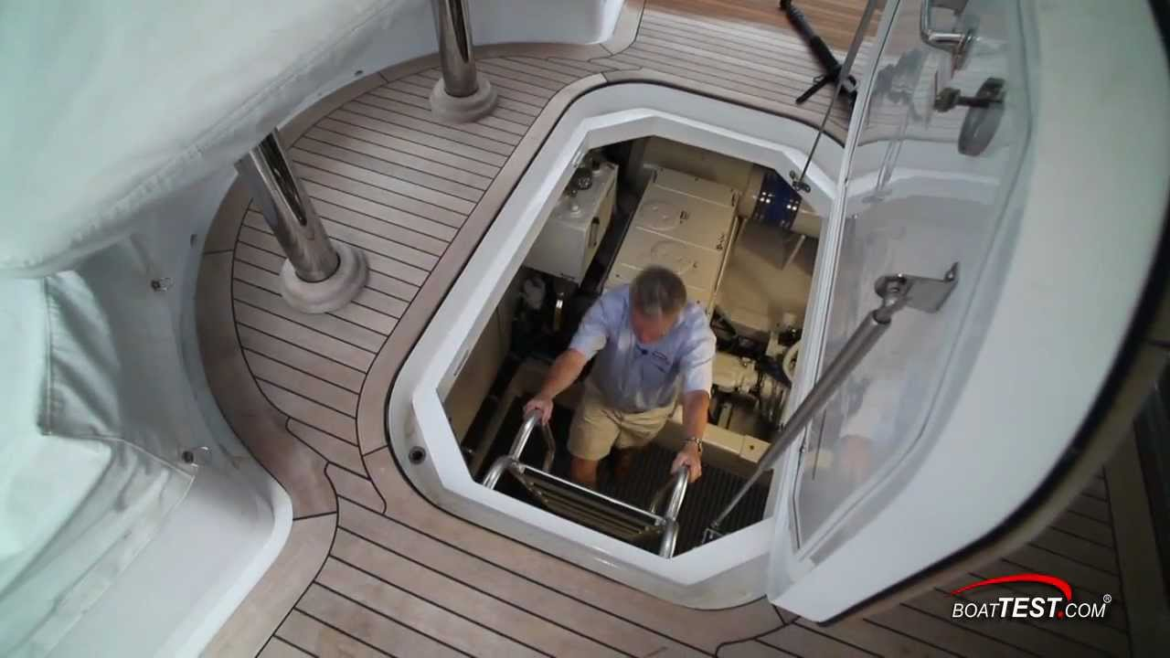 Hatteras 60 Motor Yacht Engine Room 2012 By Boattest Com