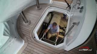 Hatteras 60 Motor Yacht Engine Room 2012- By BoatTest.com
