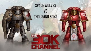 HORUS HERESY BATTLE REPORT - Space Wolves VS Thousand Sons Game 3