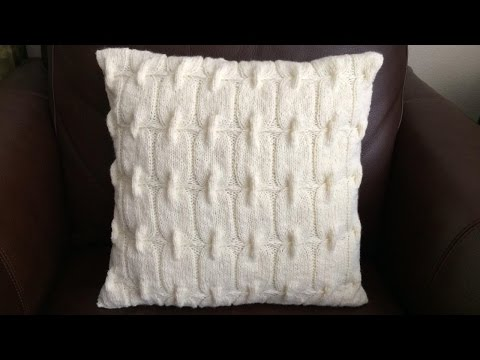 How To Knit A Chain Link Pillow, Lilu's Handmade Corner Video # 62