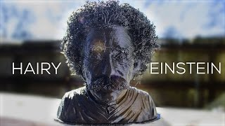 Hairy Einstein - How To 3D Print With Hair - #HairyPrints Challenge