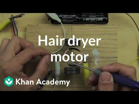 Compare the hair dryer motor to the one you can build | Khan Academy