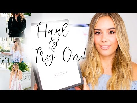 Haul and Try On | REVOLVE GUCCI TOPSHOP & More! | Hello October