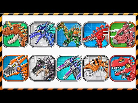 Dino Toy War Robot Corps - Android Full 10 Dinosaur Robot Game Play - 1080 HD
