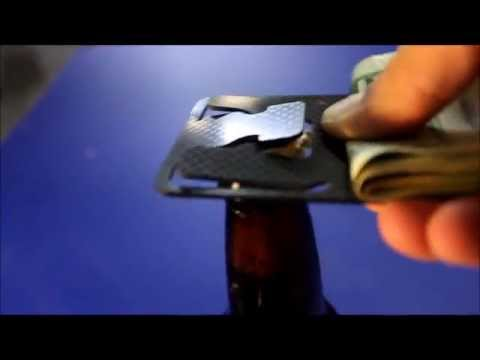 Carbon Money Clip Opening a Beer