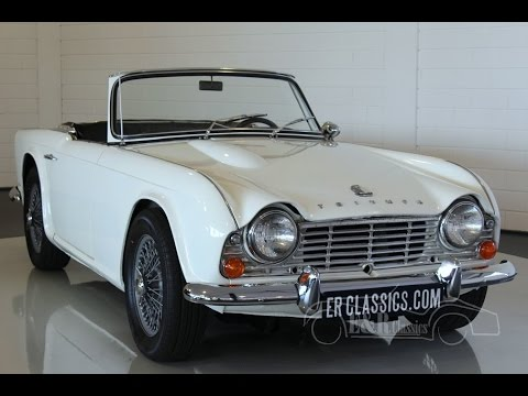 triumph tr4 1964 old english white restored very good. Black Bedroom Furniture Sets. Home Design Ideas