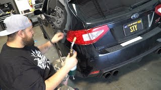 homepage tile video photo for Installing Tail Light Vinyl On The STI | Endless Autosalon
