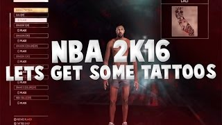 NBA 2k16 Lets get some TATTOOS!!