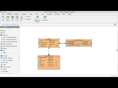 From ERD To Class Diagram - Multiple Tables Map To One Class