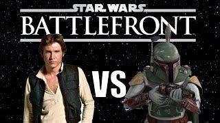 HAN SOLO vs BOBA FETT ★ Star Wars Battlefront (w/ Dumb and Dumber)