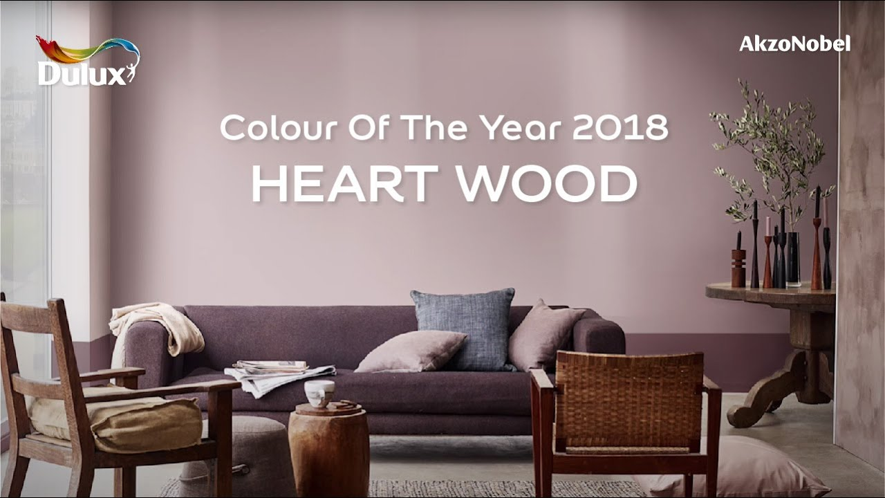 Dulux colour of the year 2018 heart wood youtube - Dulux exterior wood paint colour chart pict ...