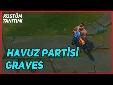 Havuz Partisi Graves (Kostüm Tanıtımı) League of Legends