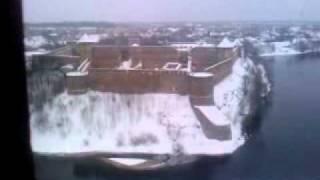 нарва, замок на пограничной зоне с россией(17.12.2о1о., 2010-12-17T18:11:57.000Z)