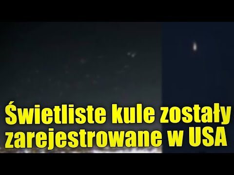 Niezidentyfikowane kule światła zostały zarejestrowane przez amerykańską telewizję!