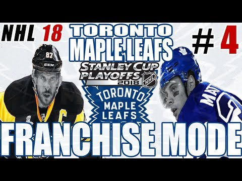 ROUND 1 vs PITTSBURGH PENGUINS  - NHL 18 FRANCHISE MODE - Toronto ep. 4