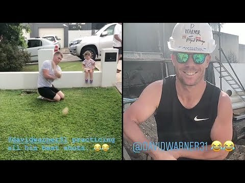 David Warner : Look What he is doing after ban from Cricket due to Ball Tampering
