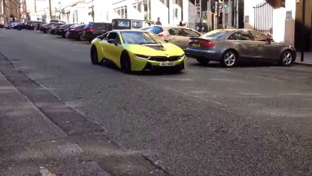 Satin Chrome Yellow Bmw I8 Wrapped By Yiannimize By Newcastle Cars