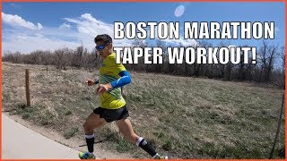 BOSTON MARATHON TAPER WORKOUT! SAGE CANADAY RUNNING TRAINING