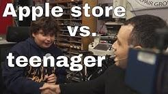 Genius bar quotes local teen for repair. :(