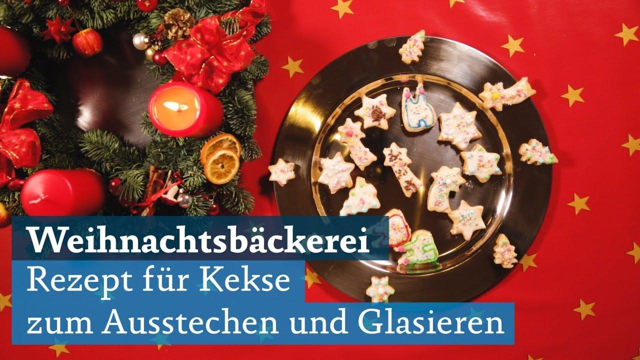 Glasur Weihnachtsplätzchen.Weihnachts Kekse Zum Ausstechen Mit Glasur Rezept Zum Plätzchen Backen