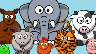 The Animal Sounds Song | Kids Learning Videos