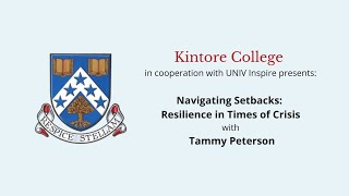 Navigating Setbacks: Resilience in Time of Crisis with Tammy Peterson