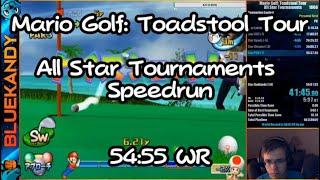 [WR] Mario Golf: Toadstool Tour - All Star Tournaments Speedrun in 54:55