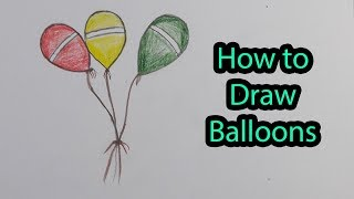 How to Draw Balloons | Drawing For Kids || Avro Drawing School