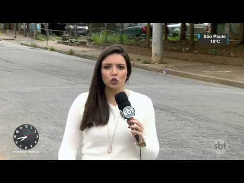 Motorista do Uber que fugiu de assalto se emociona ao conversar com o SBT - SBT Brasil (13/04/17)
